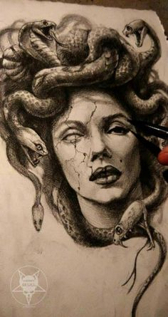 The story of Medusa is so sad. In her I see so many people I know and knew. When I think of her I think of women taking back power. Medusa makes me feel strong. God Tattoos, Neue Tattoos, Body Art Tattoos, Sleeve Tattoos, Tatoos, Funny Tattoos, Awesome Tattoos, Medusa Tattoo Design, Tattoo Designs