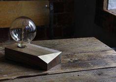 Wooden lamp by Potémkin Buro, Moscow, Russia 2017  Keywords: Wooden lamp, Edison, brass, light, oak