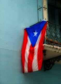 Mi bandera, Old San Juan, Puerto Rico by Fernando Cuevas