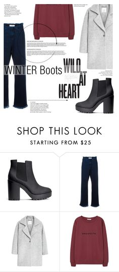 """""""№"""" by sophiateresa ❤ liked on Polyvore featuring H&M, Marques'Almeida, MANGO, Winter and winterboots"""