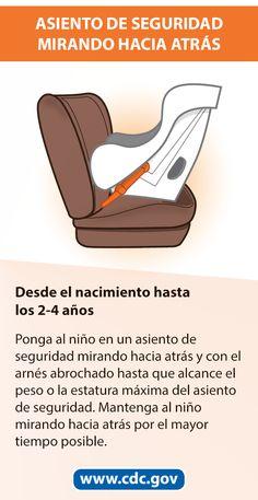 Mamás y papás: Usar el asiento de seguridad o el asiento elevado correcto puede salvar vidas. Las lesiones vehiculares son una de las principales causas de muerte entre los niños en los Estados Unidos. Pero muchas de estas muertes pueden prevenirse. Usar asientos de seguridad con arnés, asientos elevados y cinturones de seguridad acordes a la edad y el tamaño de los niños reduce en más de la mitad el número de lesiones graves y mortales. Teen Driver, Booster Car Seat, Applied Science, Injury Prevention, Pedi, Motor Car, Scrubs, Nursing, Car Seats