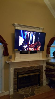tv to big for cutout avove fireplace | ve attached a couple of ...