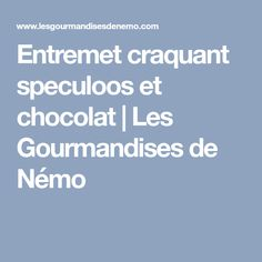 Entremet craquant speculoos et chocolat   Les Gourmandises de Némo