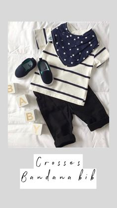 Our crosses bandana bib is just the perfect accessory to stylish your baby outfit.