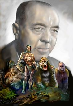 Tarzan of the Apes with ERB Literary Heroes, Tarzan Of The Apes, Buddha, Statue, Painting, Rice, Painting Art, Paint, Draw