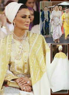 Sheikha Mozah looks divine in caftan inspired dress with spectacular cape. Hijab Musulman, Mode Hijab, Royal Fashion, Look Fashion, Womens Fashion, Fashion Design, Abaya Fashion, Modest Fashion, Estilo Real