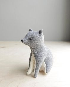 your place in the world / grey bear by ohalbatross on Etsy, $78.00