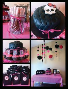 Monster High Birthday Party Ideas. Freaky Just got Fabulous #temporarytattoo