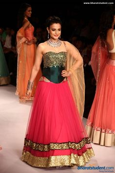 Amisha Patel at Surya Gold in Association With Swarovski Gems Show at  IIJW 2014 - Day - 1 I love the outfit but not exactly digging the jewelss