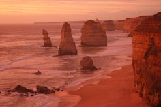 Australia travel ideas: 6 sunsets you need to see.  The Great Ocean Road, 12 Apostles Sunset is just one. Click through for more.