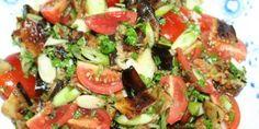 Fyldig græsk auberginesalat.