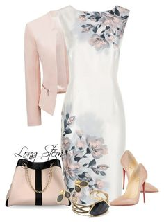 A fashion look from May 2015 by longstem featuring Jacques Vert, Forever New, Christian Louboutin, See by Chloé, Moran Porat Jewelry and Barse Classy Outfits, Chic Outfits, Dress Outfits, Fashion Dresses, Woman Outfits, Jw Mode, Elegantes Outfit, Mode Outfits, Office Outfits