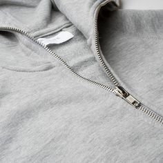 The Zip Hoodie - Heather Grey