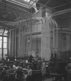 The Central Telegraph Office of the GPO in London, Oct 1932