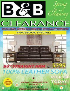 B&b Furniture, Quality Furniture, Clearance Furniture, Leather Sofa, Leather Sofas