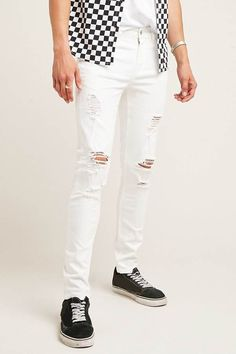 21 MEN Distressed Skinny Jeans #men #fashion #male #style #menfashion #menwear #menstyle Klick to see the Price