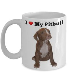 I Love My Pitbull Gift Mug