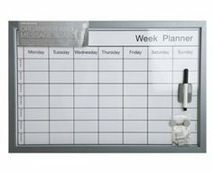 Bi Office Dry Wipe Weekly Planning Board with Pen 600x400mm: Amazon.co.uk: Office Products