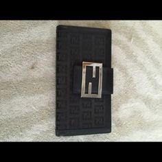 Authentic Fendi Zucca Wallet black, great condition, no trades, FENDI Bags Wallets
