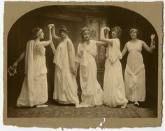 Dance class in Torquay. Agatha in the centre. c 1904. 'We were like obstreperous flowers — often weeds maybe, but nevertheless all of us growing exuberantly — pressing violently up through cracks in pavements and flagstones, and in the most inauspicious places, determined to have our fill of life and enjoy ourselves, bursting out into the sunlight, until someone came and trod on us. Even bruised for a time, we would soon lift a head again.