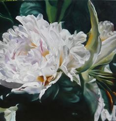 Lee Caroline Art ~ Peony and Lily oil on linen Easy Flower Painting, Flower Art Drawing, Acrylic Painting Flowers, Beautiful Paintings Of Flowers, Beautiful Artwork, Art Floral, Artist At Work, Art Drawings, Oil Paintings
