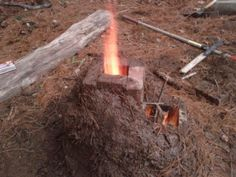 Awesome way to cook outdoors or heat your home. Much more efficient than a wood stove!How to build a Rocket Stove! Camping Survival, Outdoor Survival, Survival Prepping, Survival Skills, Camping Hacks, Emergency Preparation, Survival Mode, Survival Stuff, Camping Ideas