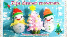 Pipe cleaner craft tutorial - pipe cleaner snowman毛根雪人手工教學