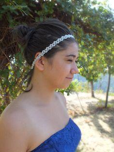 Bridal headband weddingBoho bridal accessory by JasmneAccessores, $18.00
