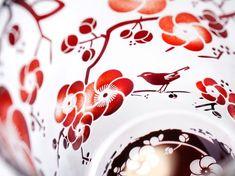 梅と鶯の春恋グラス|グラス・カップ|crafterior [クラフテリア]|ハンドメイド通販・販売のCreema