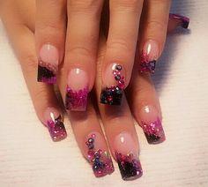 Glitery encapsulated nails....
