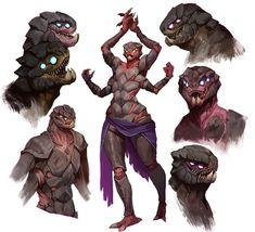 Monster Concept Art, Alien Concept Art, Creature Concept Art, Creature Design, Fantasy Monster, Fantasy Character Design, Character Design Inspiration, Character Concept, Mythical Creatures Art