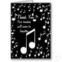 Greeting Cards for any occasions with music notes http://www.zazzle.com/elenne