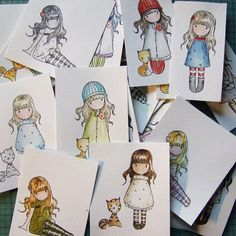 Love these stamps. Gorjuss