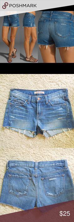 "J Brand cutoff shorts denim Libra sz 25 EUC In like new condition. 29"" waist. 35"" hip. 9"" rise. 2"" inseam. Sz 25 J Brand Shorts Jean Shorts"
