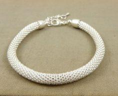 Beads crochet rope bracelet , beadwork jewelry , beaded bracelet , white crystal bracelet