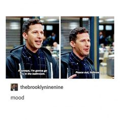 15 Jake Peralta Brooklyn 99 Moments That Are Toit Title of your sex tape. Brooklyn Nine Nine Funny, Brooklyn 9 9, Detective, Jake Peralta, Andy Samberg, Gay, College Humor, Thing 1, Best Shows Ever