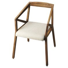 Showcasing a sheesham wood frame and cotton upholstered seat, this eye-catching arm chair adds contemporary flair to your living room or breakfast nook....