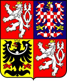 The Czech Republic coat of arms. Jiri's region is the top right, the eagle of Moravia.