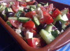 Choriatiki Salata of Griekse boerensalade