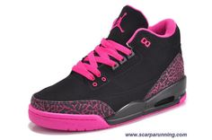 comprare scarpe online AIR JORDAN 3 RETRO Nero/Rosa 318376-073 Donna  acquisti on