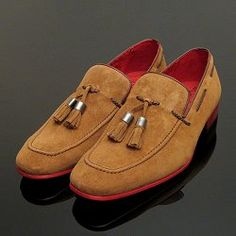 07a7c2d6527 Jeffery West Muse Tan Tobacco Suede Tassel Loafers for Arthur Knight Online  UK