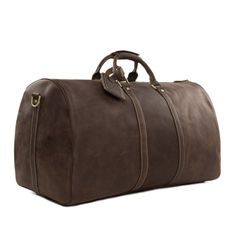 119.48$  Buy now - http://ali0zs.worldwells.pw/go.php?t=32425113958 - ROCKCOW Large Vintage Retro Look Genuine Leather Duffle Bag Weekend Bag Men's Handbag 12027