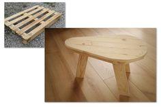 Petite table basse d'inspiration scandinave, entièrement en bois de palette.