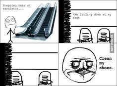 Always on the escalator