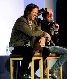 """misha-bawlins:      Jensen Ackles: """"Yes, I'm very shy, but I do my best to work around it. I know it may seem strange for an actor, but acting is a good way of overcoming this trait. It gives me the opportunity to open up more to others. Also, Jared helps me with this. He has a lot on his plate, poor thing.""""    I wish people would remember more often that Jensen is quiet and shy and introverted and stop expecting him to behave like Jared or Misha."""