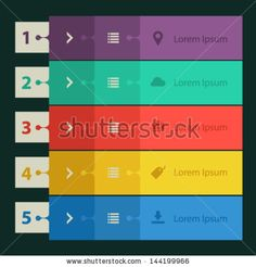 Collection of templates modern flat design ui step banners by -izabell-, via ShutterStock