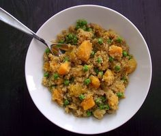 Herbed Quinoa Risotto with Butternut Squash & Sweet Peas | SO GOOD