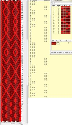 16 cards, 2 colors, repeats every 63 rows, diagonal variation, GTT ༺❁ Card Weaving, Weaving Art, Loom Weaving, Inkle Weaving Patterns, Viking Designs, Art Du Fil, Inkle Loom, Willow Weaving, Weaving Projects