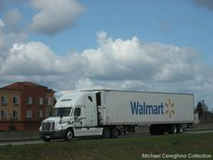 Schneider National Freightliner Cascadia with Wal-Mart reefer trailer by Michael Cereghino (Avsfan118), via Flickr