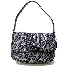 ' Authentic Coach Ocelet Lurlex Flaptop Pouch Purse ' is going up for auction at  9pm Tue, Dec 11 with a starting bid of $60.
